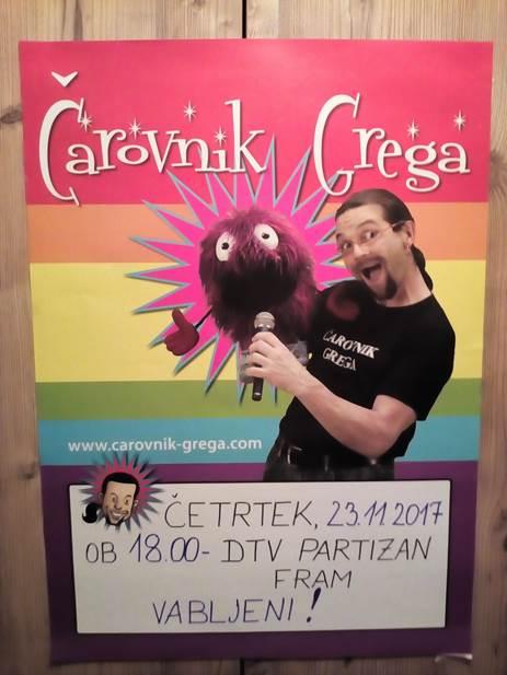 Čarovnik Grega, 23. 11. 2017